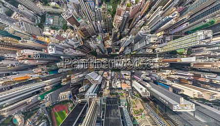 vista aerea sobre el centro de