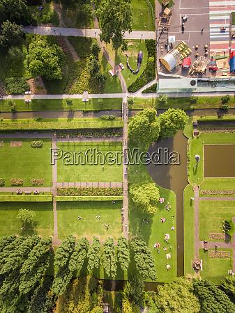 vista aerea de un parque en