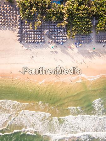 vista aerea de la playa de