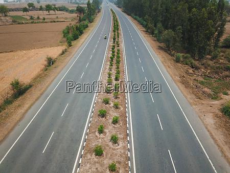 vista aerea de la carretera en