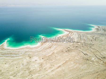 vista aerea del mar muerto