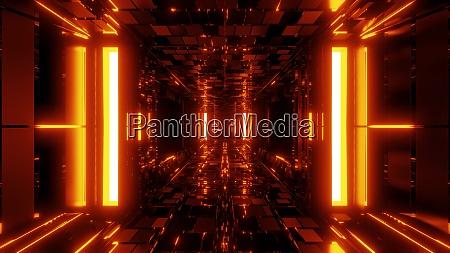 futurista scifi tunel corredor hangar papel