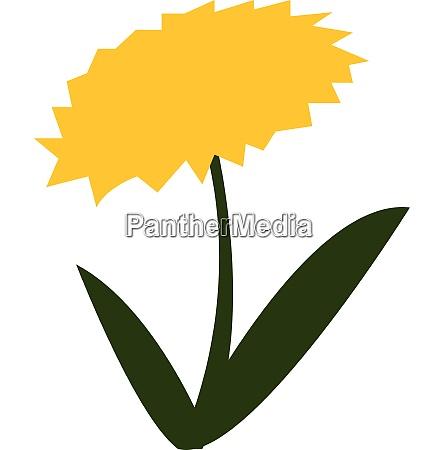 flor amarilla en flor con vector