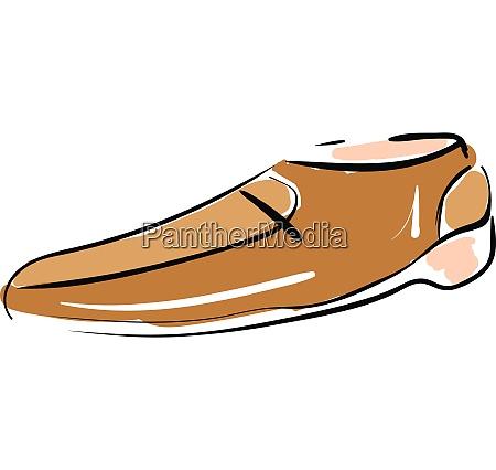 dibujo de boceto de un zapato