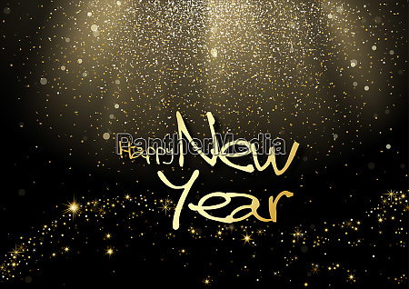 happy new year greeting card with