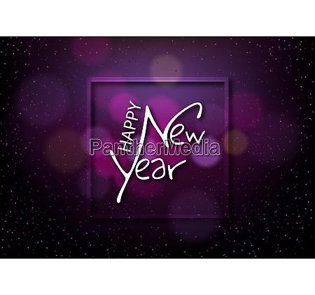 happy new year on dark background