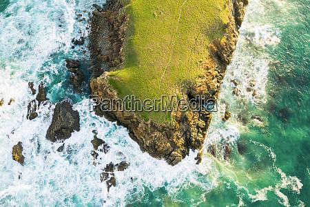 vista aerea de bare bluff sandy