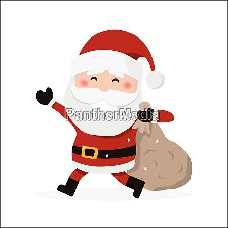 santa claus holding a bag christmas