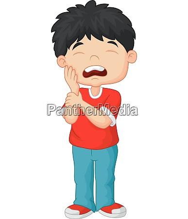 caricatura ninyo dolor de muelas