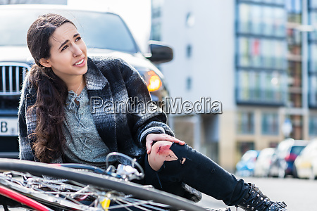 young woman suffering severe pain after