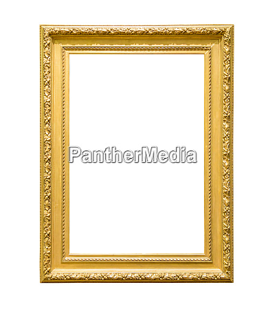 portrait golden decorative picture frame on