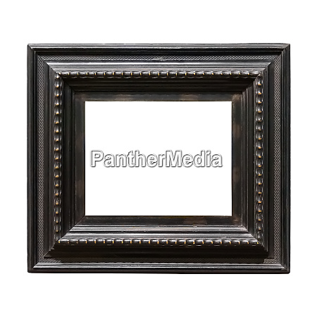 square wooden decorative picture frame isolated
