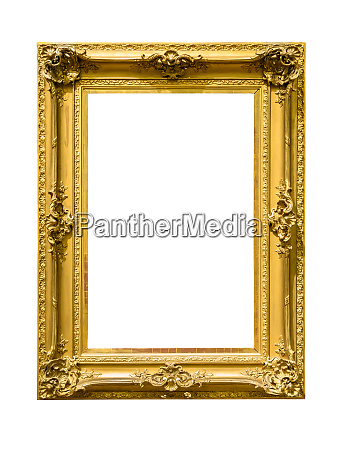portrait golden decorative picture frame on
