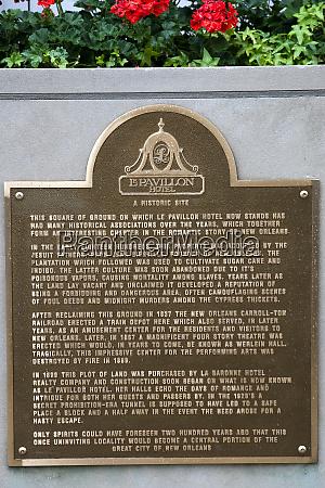 estados, unidos, luisiana, nueva, orleans., una, placa, que - 27697539