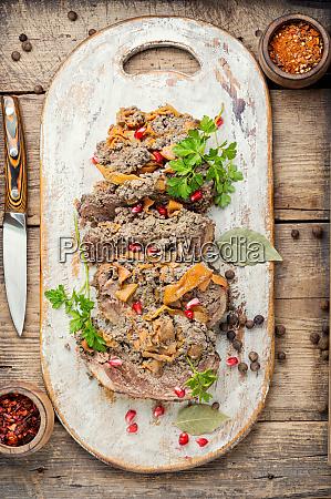 rollo festivo de carne