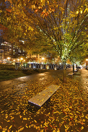 usa oregon portland walkway and bench