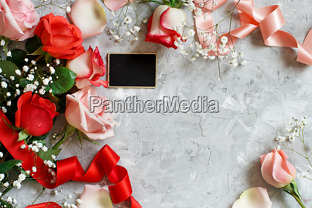 red roses flowers petals and small