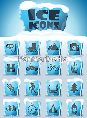 conjunto de iconos de active recreation