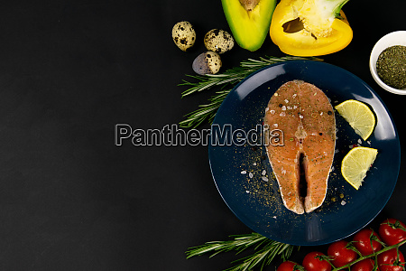 comida, saludable, sobre, fondo, de, madera - 27963546