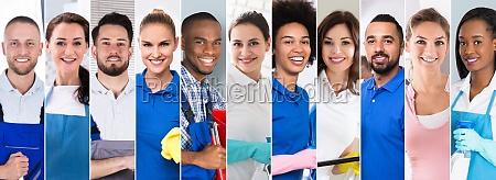 collage de limpiadores profesionales
