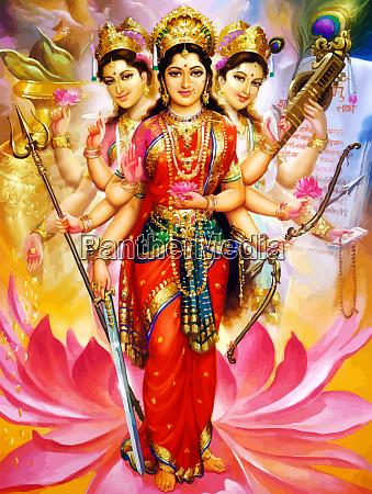 dios saraswati obra espiritual veena santa