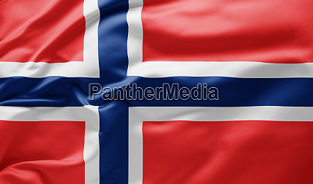 ondeando la bandera nacional de noruega
