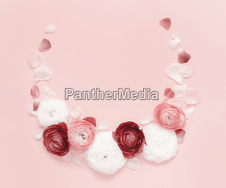 circle frame made of pink and