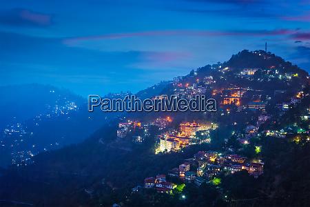 night view of shimla town himachal