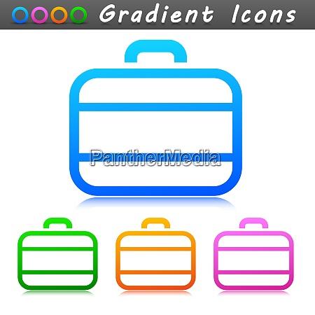 vector suitcase symbol icon design
