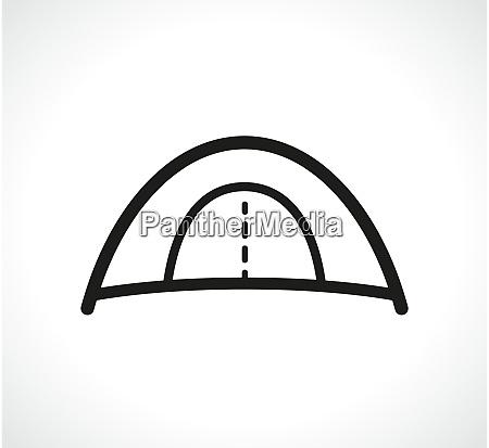 vector tent symbol icon design