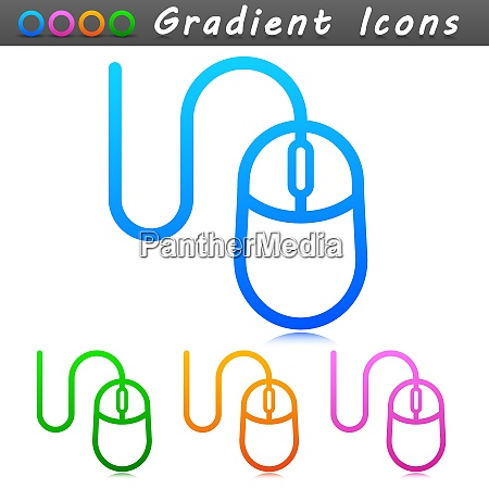 vector illustration of mouse symbol icon
