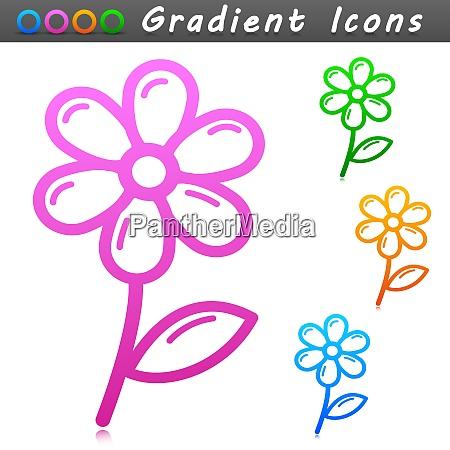 vector flower symbol icon design