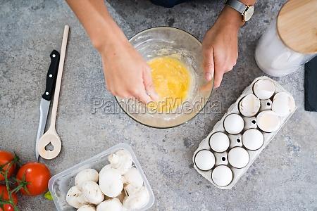 mujer casa cocina comida cocina cocina
