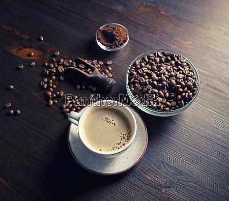 taza de cafe caliente