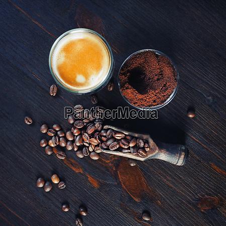 espresso granos de cafe