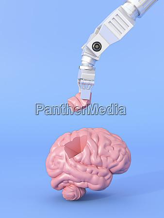 render tridimensional de brazo robotico ensamblando
