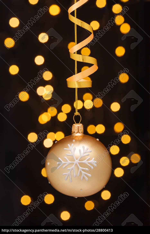 decoración, navideña, con, bolas, y, cintas. - 28800413