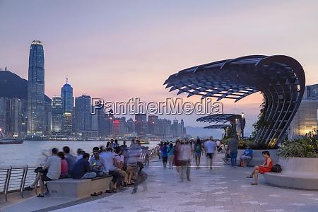 skyline de la isla de hong