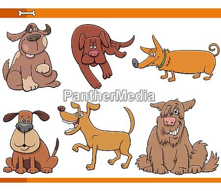 perros de dibujos animados y cachorros