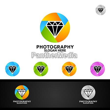 logotipo de fotografia de camara de
