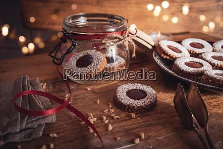 navidad, bodegones, con, galletas, de, mermelada - 28939073