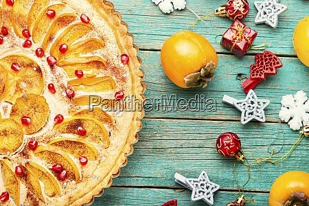 tarta caqui pastel pastel pastel pastel