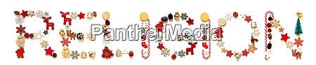 colorida carta de decoracion navidenya construyendo