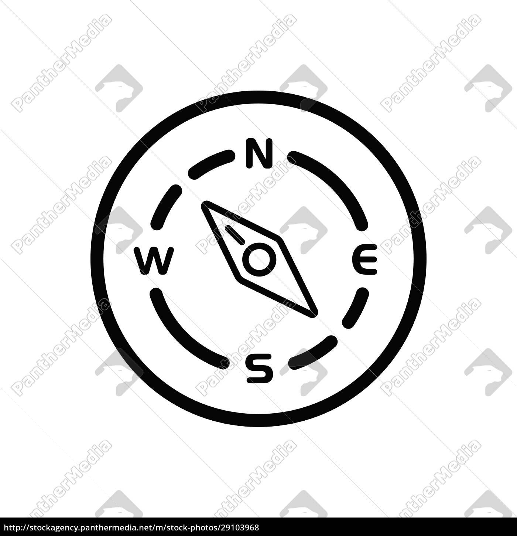 brújula., dirección, noroeste., icono, del, tiempo - 29103968