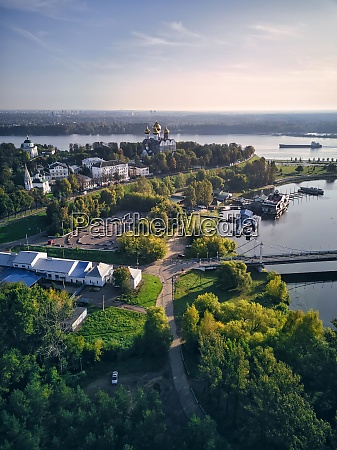 vista aerea del parque en strelka