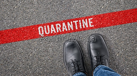 red, line, on, asphalt, -, quarantine - 29233846