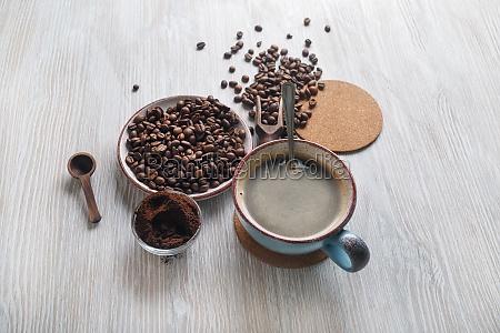 bodegon con cafe