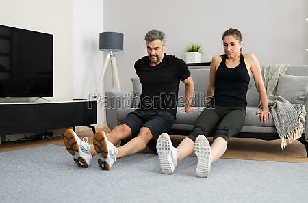 entrenamiento de fitness en casa