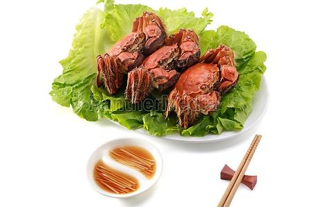 cangrejos peludos yangcheng lago vajilla comidas