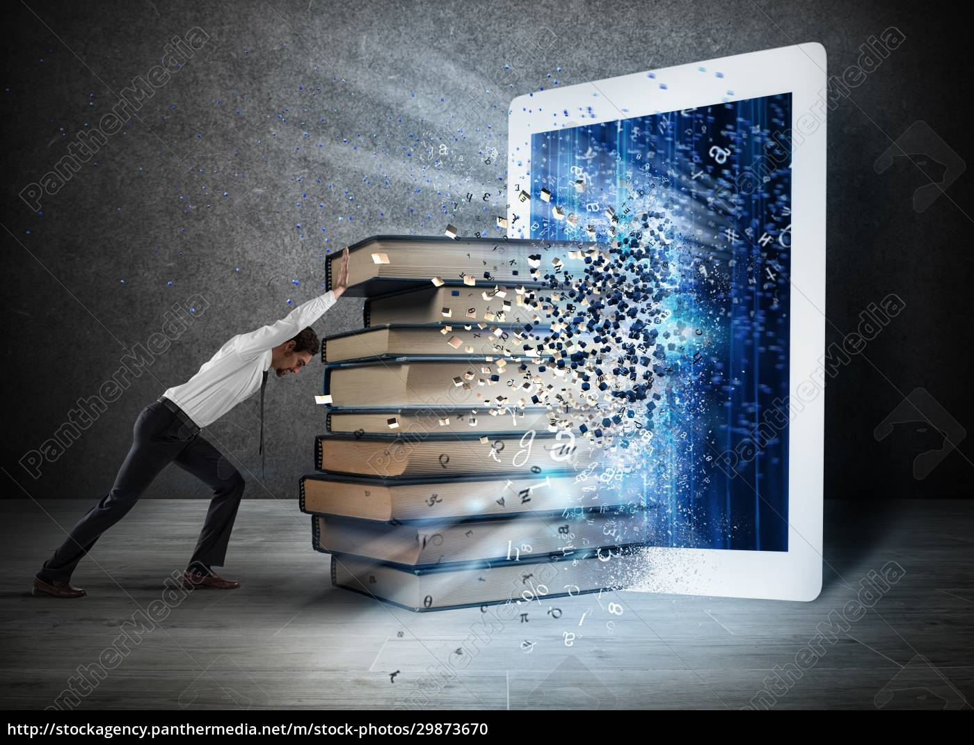reading, books, with, an, e-book - 29873670